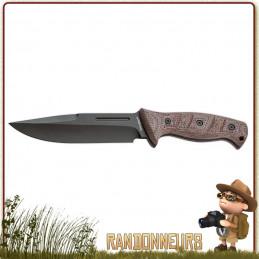 Poignard Desert Warior Boker un couteau bushcraft plate semelle idéal pour le batonnage