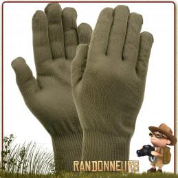 Gants Liner vert armée Rothco chauds et léger pour la chasse randonnée bushcraft