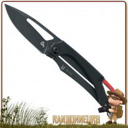 Couteau pliant Racli G10 Black Fox lame à trou en acier 420C effet blackwash