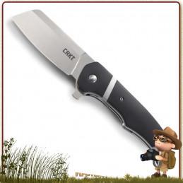 Couteau Pliant CRKT RIPSNORT lame forme tanto acier 8Cr13MoV satiné avec flipper et cran intérieur
