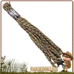 Corde Nylon 5mm x15m Camo 101 Inc bivouac bushcraft survie