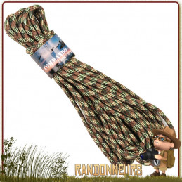 Corde Nylon bivouac bushcraft 7mm x15m Camo 101 Inc