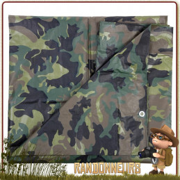 Bache Tarp militaire camouflage armee grande taille 101 Inc