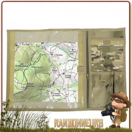 Porte Carte Militaire Tissu Camo Fosco