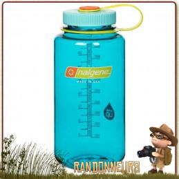 Gourde Nalgene plastique grande ouverture 1 litre. Bouteille Nalgene tritan, robuste, randonnée, survie Bushcraft.