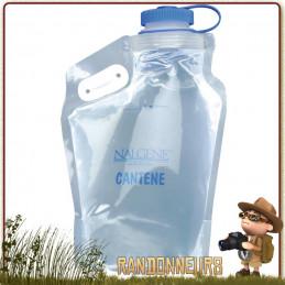 Réservoir Souple Gourde Nalgene Cantene Pliable 3 Litres sans BPA, ultra légère, adaptée à la randonnée ultra light