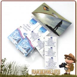 Tablettes de Purification Eau potable OASIS  désinfection eau en randonnée voyage à base de chlore nadcc