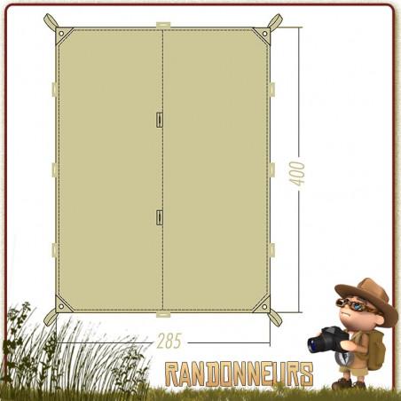 TARP 4 SIMPLE GRANDE TAILLE 285 x 400 cm TATONKA