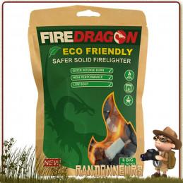 gel éthanol Fire Dragon BCB sachet 18 tablettes 27 g avec opercule allume feu bushcraft combustible réchaud randonnée éthanol