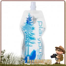 Gourde softbottle push pull pp platypus souple de Randonnée légère, la gourde Soft Bottle est compressible et pliable