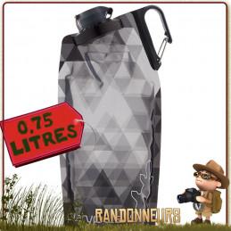 Gourde platypus souple duolock soft bottle avec bouchon à clapet et mousqueton, gourde randonnée légère