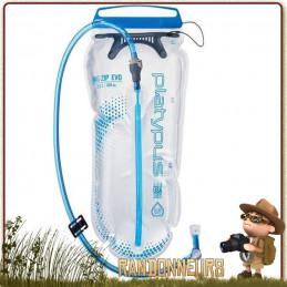poche d'hydratation pour sac à dos randonnée BIG ZIP EVO 3 L de Platypus sans arrière gout bpa légère pour sac dos