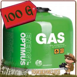Cartouche Gaz OPTIMUS ENERGY 100g butane et propane utilisation 4 saisons même à basses températures réchaud randonnée