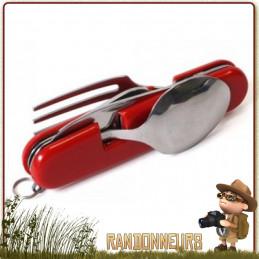 Set Couteau et Couverts de Camping compact et léger couteau, fourchette et cuillère détachables en deux parties