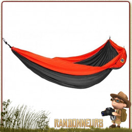 hamac une 1 place simple ticket to the moon gris orange de bivouac léger en camping nomade randonnée bushcraft
