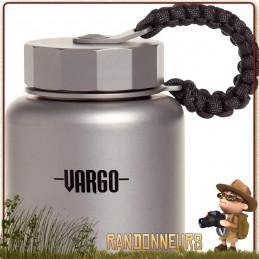 Gourde bouteille ultra légère en titane, la bouteille para bottle Titanium de randonnée Vargo, de volume 1 l est ultra light