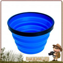 Mug pliable plastique souple 48 cl pour randonner léger, silicone sans bpa trekking ultra léger et incassable