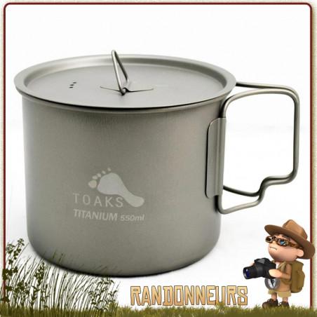 Pot Titane avec poignée 550 ml TOAKS