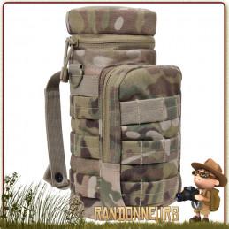 Pochette Molle Tactique pour Gourde Militaire Rothco Multicam Camo