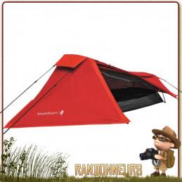 Tente BLACKTHORN 1 place Highlander ROUGE trelling et bikepacking profilée pour une meilleure tenue au vent