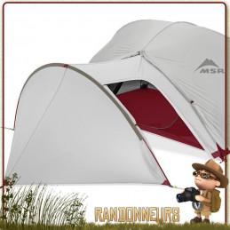 MSR, le choix des accessoires pour tente randonnée légère MSR, Auvent Gear Shed Tente Hubba Gris MSR