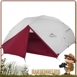 TENTE ELIXIR 4 MSR Grise - Tente de randonnée légère et de camping nomade, pour 4 personnes et utilisable sur trois saisons