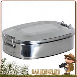 boite alimentaire inox lunch box relags 75 cl pour gamelle poele cuisson bushcraft
