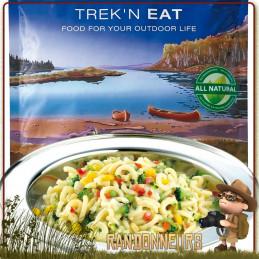 Sachet de repas lyophilisé végétarien Pâtes Primavera aux Légumes variés Trek'n Eat trekking et randonnée