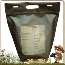 ration de survie militaire Day Ration Pack Tactical Line (Type 4) trek'n eat nourriture végétarien pour 24h00 pour une personne