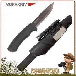 Couteau Survival Bushcraft Morakniv, la qualité d'un couteau Mora avec une lame tranchante inox