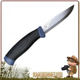 Couteau bushcraft Mora COMPANION F lame inox 10 cm avec étui plastique rigide