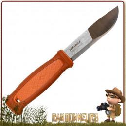 Couteau bushcraft Mora KANSBOL lame en acier Carbone 12C27 de 11 cm Étui tactique multi-mount