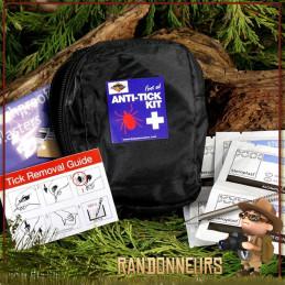 kit premiers soins pour morsures de tiques pochette zippée, tout le nécessaire pour enlever une tique