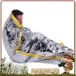 couverture de survie format Sac de Couchage couvrir entièrement le corps et se protéger de façon optimale du froid