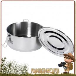 Boite Alimentaire acier inox étanche 150 cl 1.5 litres basic nature acier inoxydable 18/10 avec couvercle étanche et joint