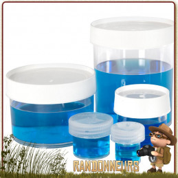 Boite Polypropylène nalgene de Stockage Jar 250ml rangement transport aliments cosmétique en voyage