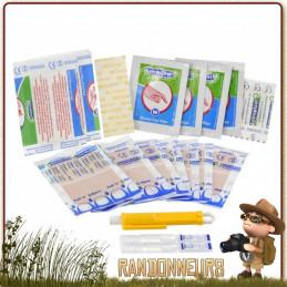 kit de premiers soins léger proposant tout le matériel de premiers soins et secours médicaux pour vos randonnées