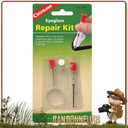 Kit de réparations pour lunettes de vue. petite pochette refermable, le kit de réparation d'urgence pour lunettes Coghlans