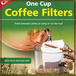 Pack de 40 mini-filtres à café  préparer votre chaud breuvage en campement bushcraft et randonnée légère