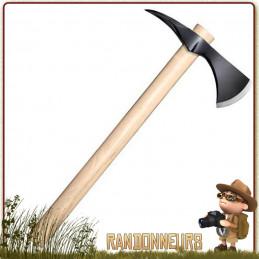 Hache Spike Hawk Cold Steel, ultra robuste, manche en bois, longueur totale 55 cm acier haute teneur en carbone 1055