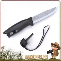 Couteau Bushcraft de survie Spark Companion Mora, bushcraft, la survie Couteau Mora Companion Spark Noir