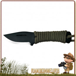 Couteau CONDOR FIDELIS tour de cou avec étui kydex. lame  5.5 cm en acier 1075 haute teneur en carbone