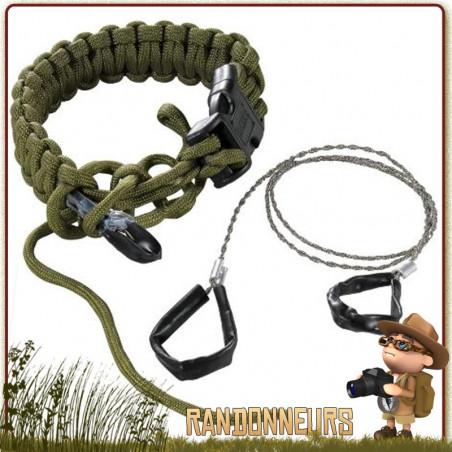 Bracelet Paracorde avec Scie Commando CRKT