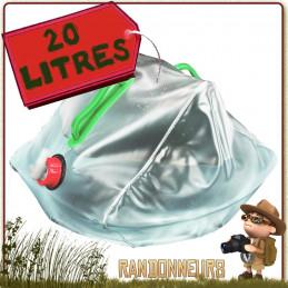 Jerrican Eau Potable plastique Souple 20 Litres Highlander pour le camping et le stockage de l'eau ou le transport