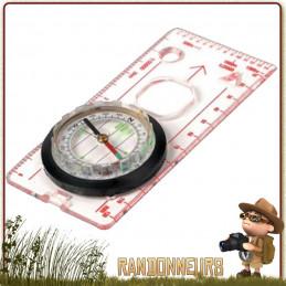 Boussole Compas d'orientation Deluxe Plexiglas Highlander avec graduations 2, 10 et 20 degrés. Échelles de mesures au 25.000ème