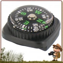 Micro Boussole bain d'huile pour bracelet (montre, paracorde) avec système d'attache. Cette micro Boussole ultra légère