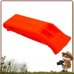 sifflet d'urgence et de détresse orange fluo pour la signalisation  équipes de secours Approuvé par SOLAS
