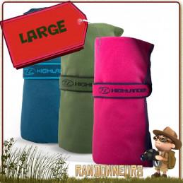 serviette de toilette ultra légère micro fibres highlander absorbante douce au toucher pour le camping randonnée