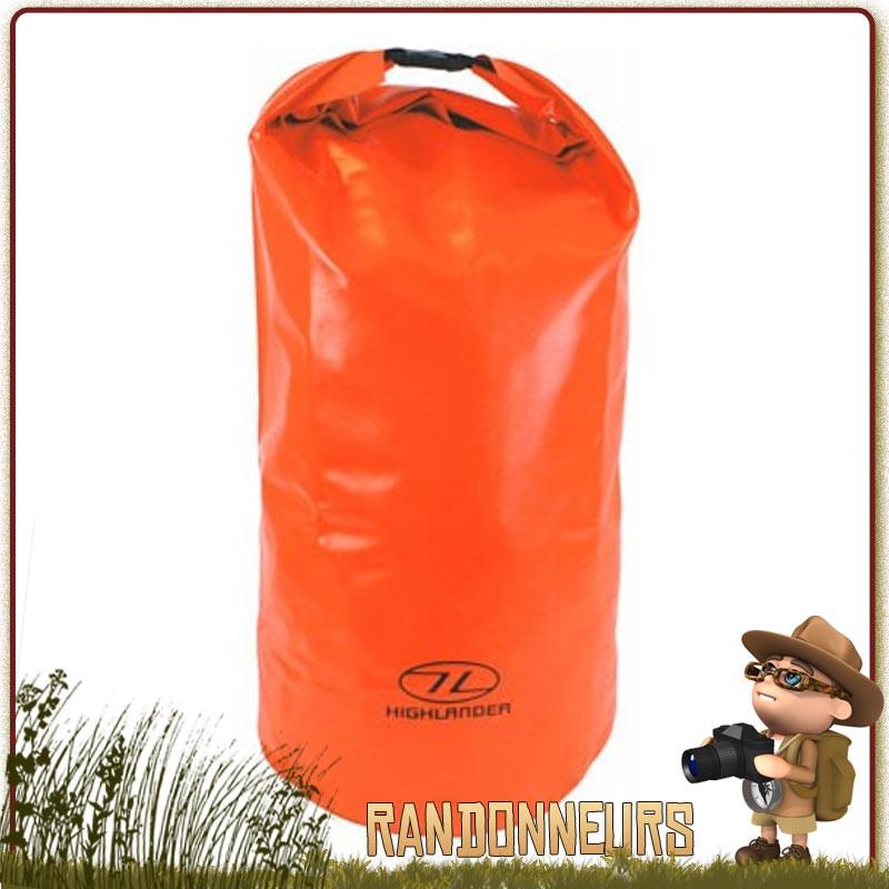 Highlander Imperméable Drysack Dry Sac Pochette Sac Nylon Rouge Camping sécurité