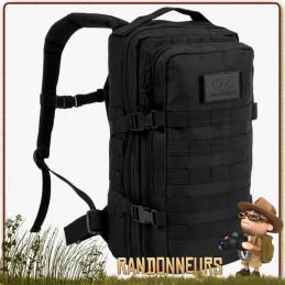 Sac à Dos RECON PACK 20 Litres NOIR Highlander day pack léger idéal pour la randonnée bushcraft à la journée